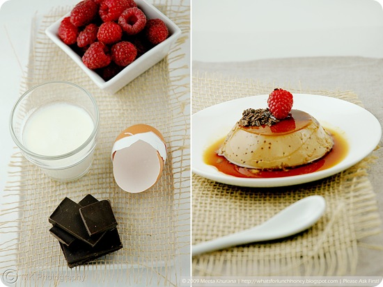 Chocolate Raspberry Creme Caramel Collage by MeetaK