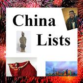 World Travel Lists - CHINA