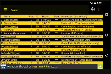Hawkeye Basketball Schedule - screenshot thumbnail
