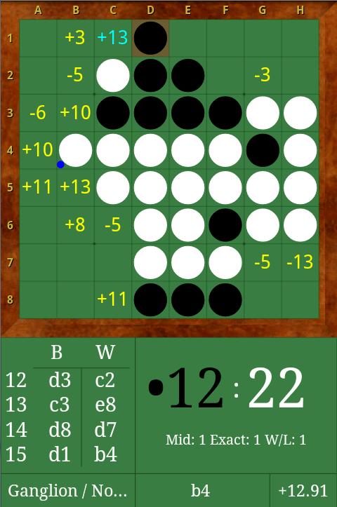 DroidZebra Reversi - screenshot