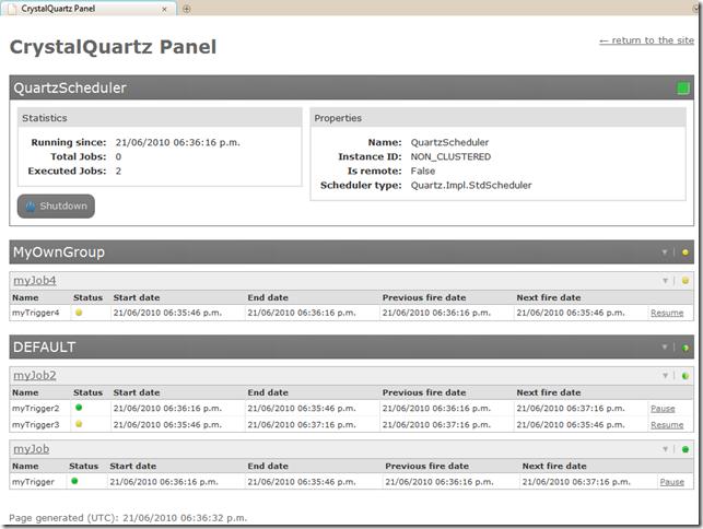 Bug squash: Embeddable Quartz Net web consoles