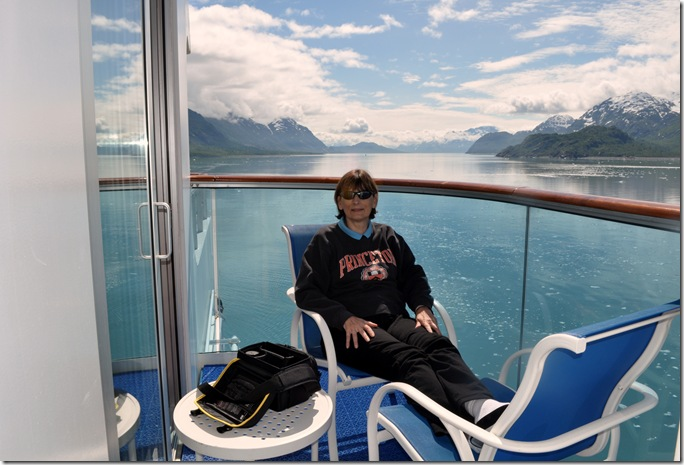 viewing glaciers from balcony