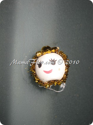 Angelito de Perlas para el Arbol Navideño 0233