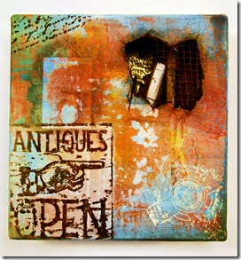 Andy Skinner distressed wall Altered Canvas