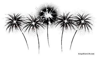 vintage fireworks graphic