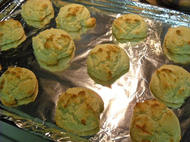Baked Cookies on cookie sheet covered in tin foil