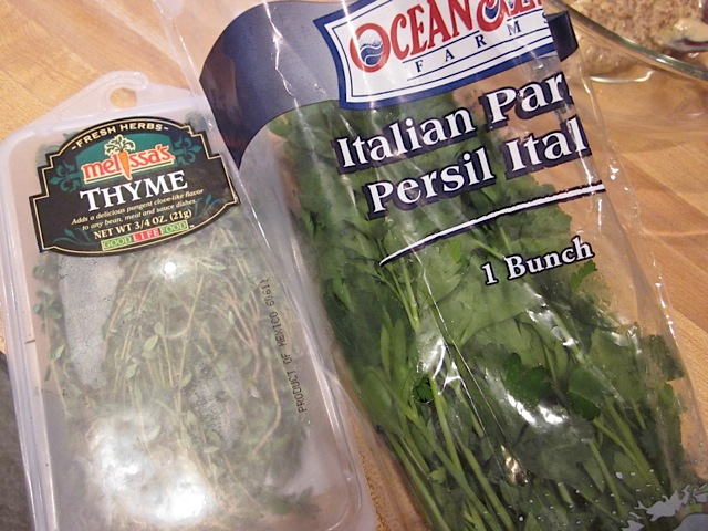 fresh herbs parsley thyme