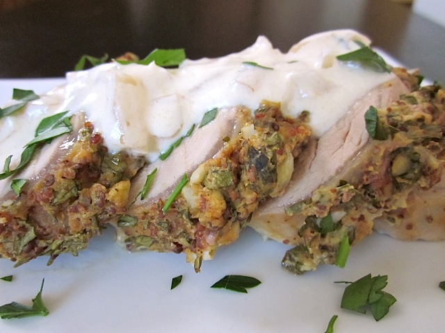 herb mustard pork tenderloin