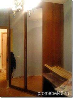 угловой зеркальный шкаф купе