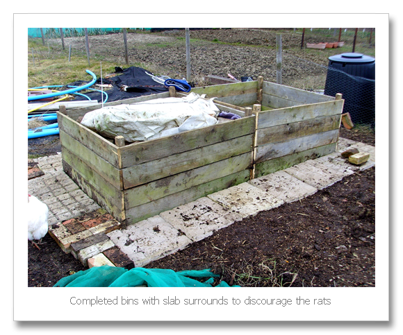 Allotment Heaven: How to make a beehive compost bin