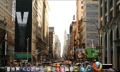 My desktop dock