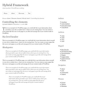 Hybrid 主題框架 for WordPress