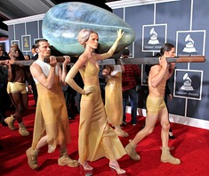 53rd Grammys Lady Gaga Arrival ShoesNBooze