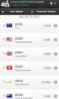 Screenshot of Curs si Convertor Valutar