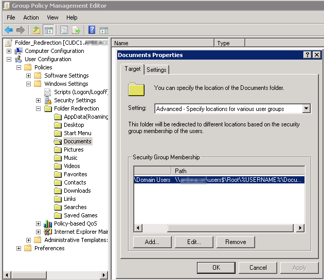 Folder redirection fun with DFS and NAS - | Exit | the | Fast | Lane |