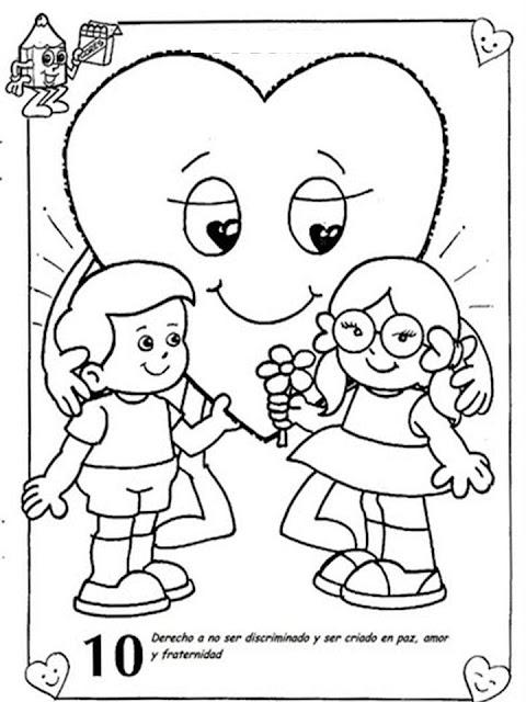 Dibujos Derechos Del Niño Para Imprimir Y Colorear