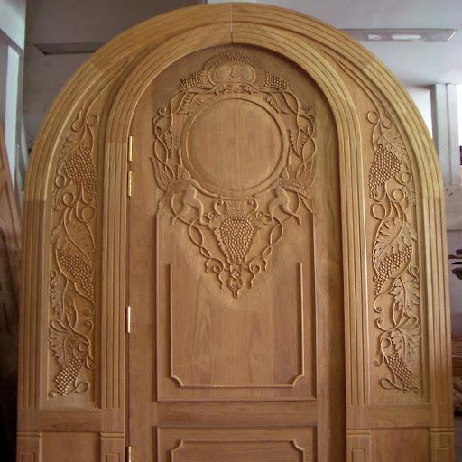Teak wood carving doorways HY- - Wooden Carving Main Doors