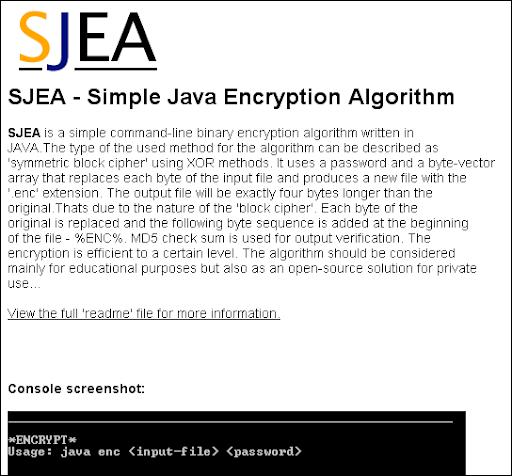 Lubomir I  Ivanov's blog: SJEA - Simple Java Encryption