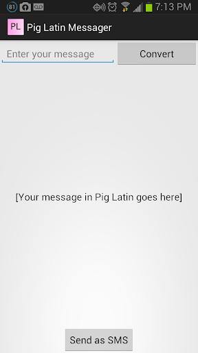 Pig Latin Messager