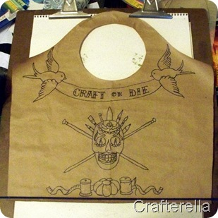 chica bag, front