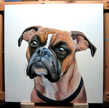 oil pet portrait painting