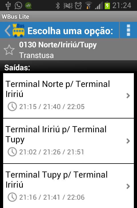 WBus Joinville Lite - screenshot
