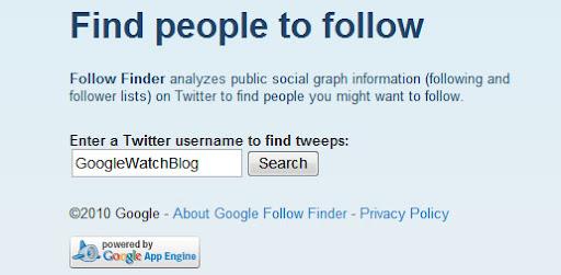 Google Follow Finder