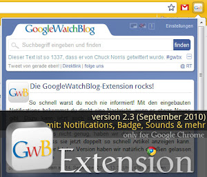 GoogleWatchBlog Extension 2.3