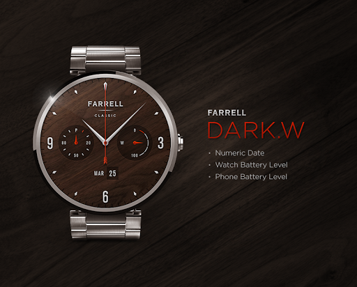 Dark.W watchface by Farrell
