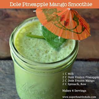 Dole Pineapple Mango Smoothie.