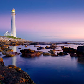 Slanghop Lighthouse by David Morris - Landscapes Beaches ( animals, nature, slankop, house, beach, landscape, light, noordhoek common, noordhoek, south africa, noordhoekchallenge )