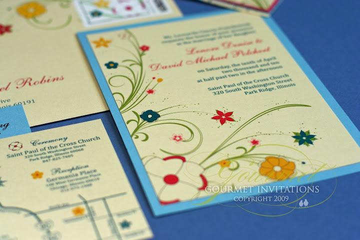Lenore David Flower Inspired Gourmet Invitations
