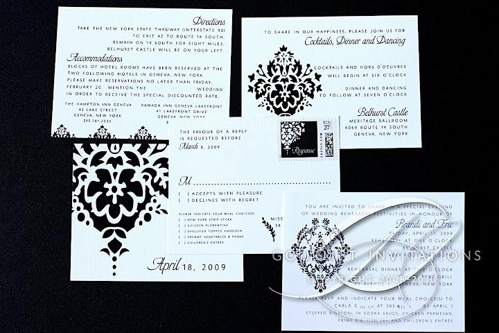 brandi s damask invitations gourmet invitations