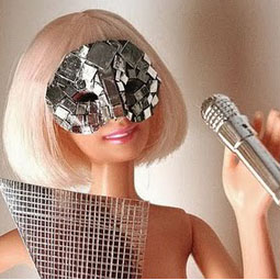 Lady Gaga Barbie: with mirrored mosaic mask [Lady Gaga Barbie image used courtesy of Veik 11@ flickr]