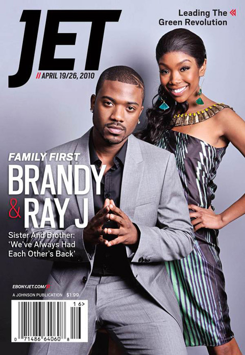 Brandy & Ray J on the cover of Jet magazine