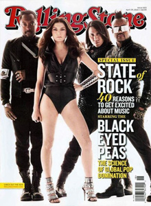 The Black eyed peas on the cover of Rolling stone