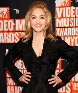Madonna on the red carpet at the VMA's [image courtesy of Getty images and MTV]