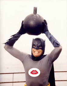 Batman with the bionic bomb | 'shopped by J ;P