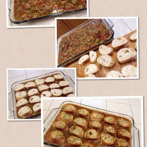 Sausage Gumbo Pot Pie With Garlic Bread Crust