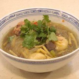 "Meatball Noodle Soup With Stuffed Pork ""tang Yuan"" Dumplings"