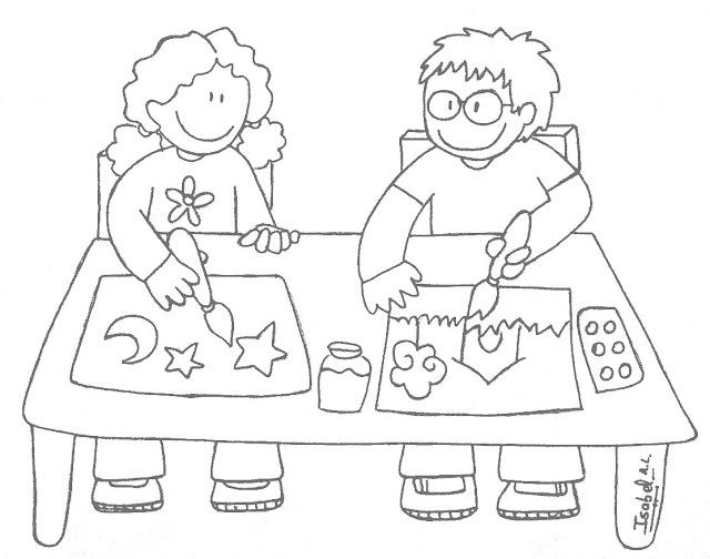Pintando Y Coloreando Dibujos De Juegos: DIBUJOS DE NIÑOS COLOREANDO Y PINTANDO