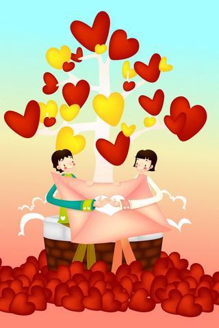 Romantické lásky Tapeta - screenshot