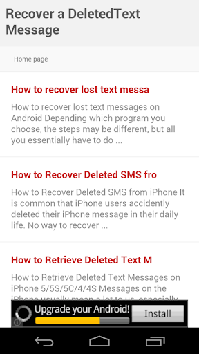 Recover a DeletedText Message