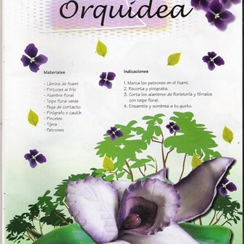 Manualidades en foamy Orquídea