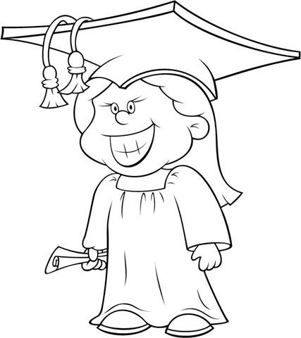 Para colorear diplomas graduación y graduados