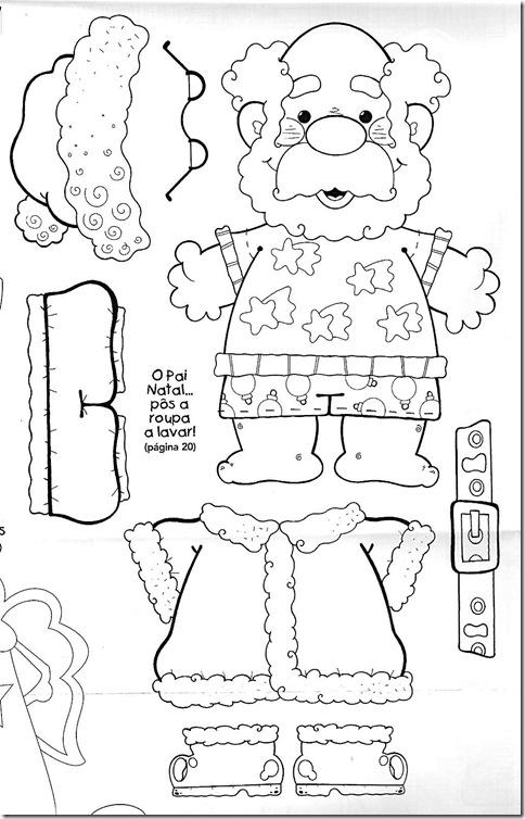 Pap noel grande para recortar y armar for Adornos navidenos para colorear y recortar