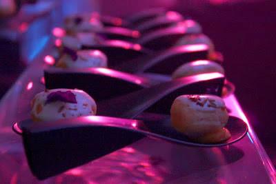 Spoons with desserts from Janice Wong's 2am Dessert Bar in Singapore at the Madrid Fusion party in Spain
