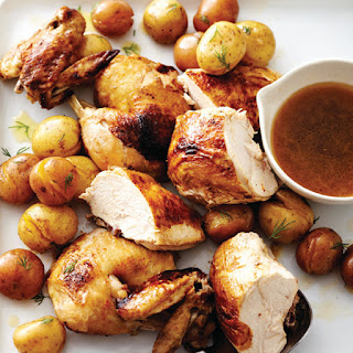 Faux-tisserie Chicken With Dilly Potatoes