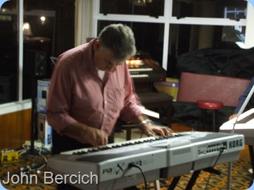 Our Club professional and maestro, John Bercich, doing a solo piece on his Korg Pa1X
