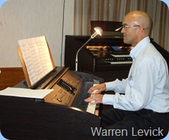 Warren Levick played three very nice arrangements for us on the Clavinova. This photo of Warren playing in June 2010 at the Club as the photo shot on the night was unfortunately blurred.